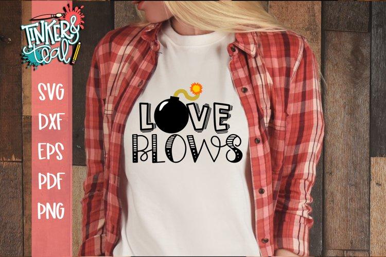 Love Blows Valentine SVG example image 1