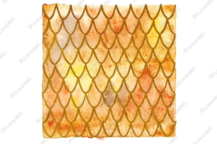 Dragon skin scales yellow orange gold vector pattern texture