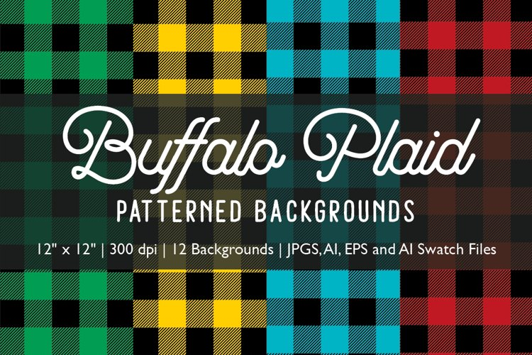 Buffalo Plaid Patterned Backgrounds example image 1