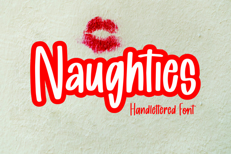 Web Font Naughties - Handlettered Font example image 1