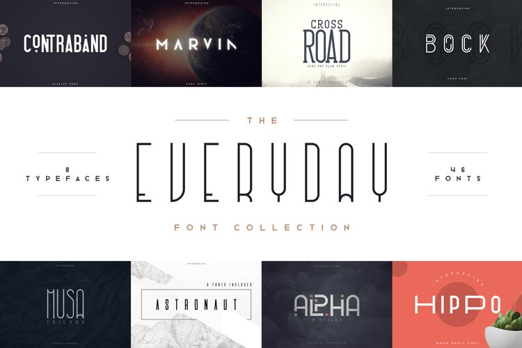 Everyday font collection 8in1 example image 1