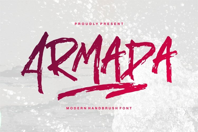 Armada - A Modern Hand Brush Font example image 1