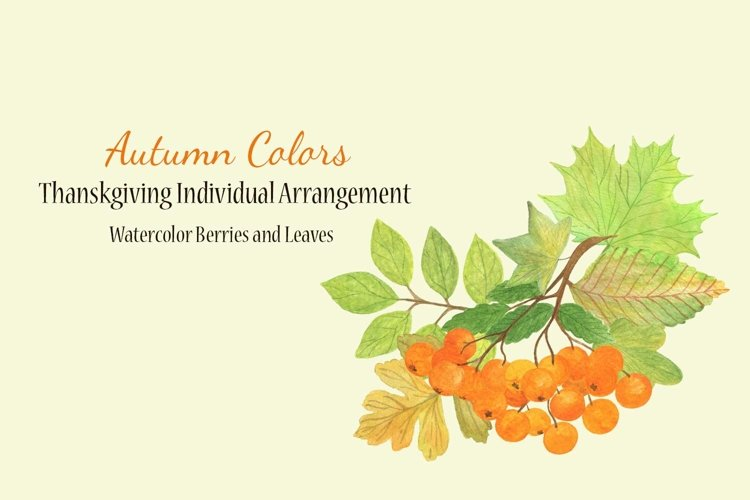 Autumn floral arrangements, Fall watercolor clipart example image 1