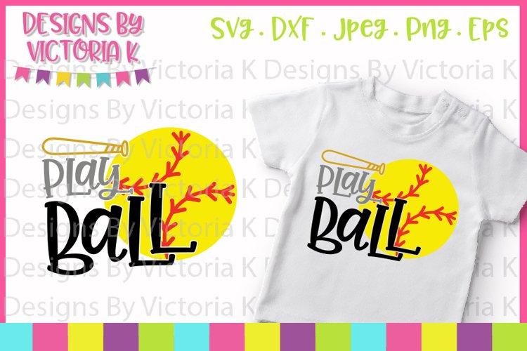 Softball svg, Play Ball, Love Softball, SVG, DXF, PNG example image 1
