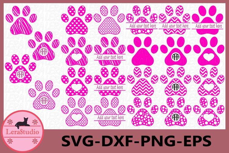Dog Paws Svg files, Silhouette Studio, Paws Svg, Paws Files example image 1