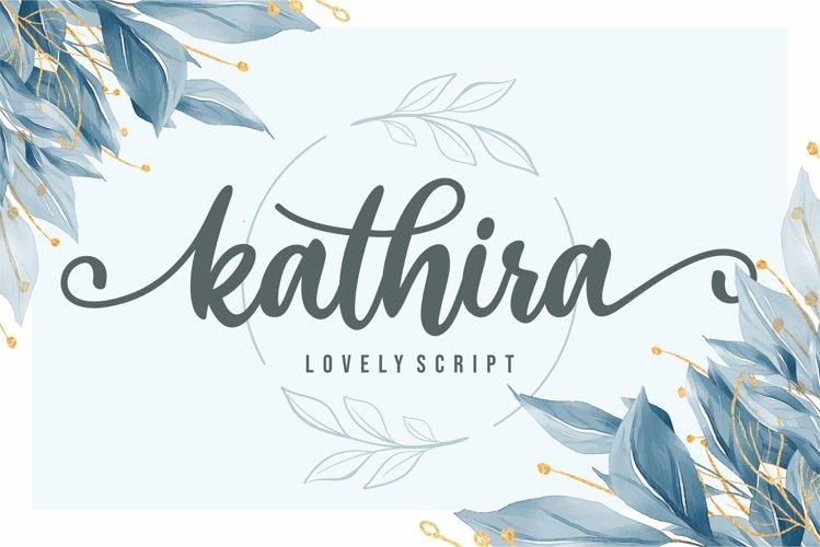 Kathira - Lovely Script example image 1