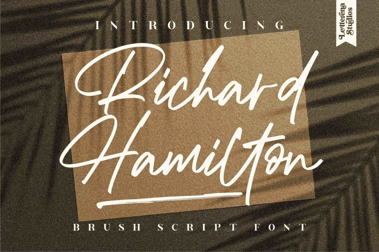 Richard Hamilton - Brush Signature Font example image 1