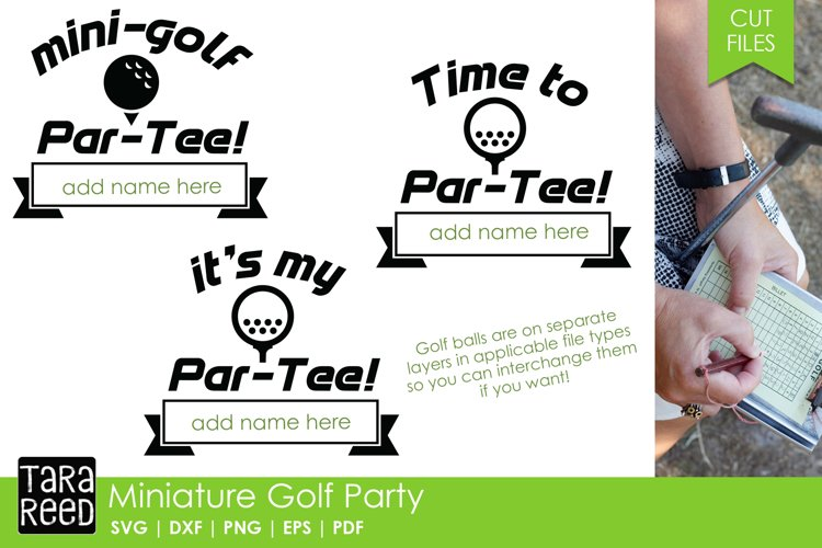 Miniature Golf Party - SVG and Cut Files for Crafters