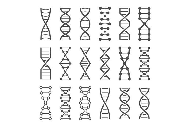 DNA spiral icon. Human genetics code, genom model and bio la example image 1
