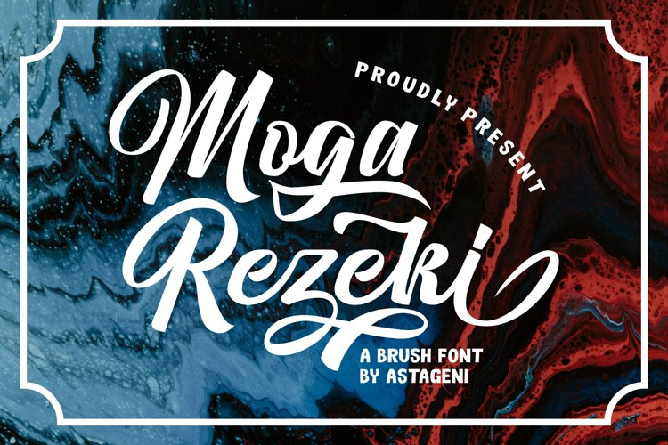 Moga Rezeki   Duo Font With Extra Swash example image 1