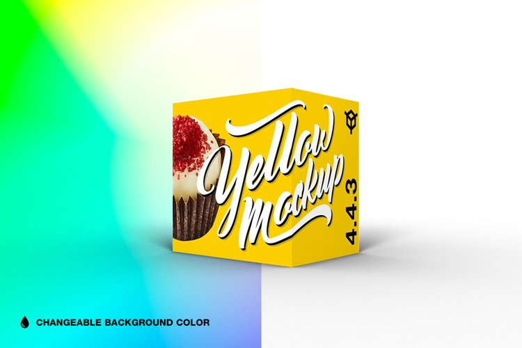 4.4.3 Simple 3D Box Mockup PSD example image 1