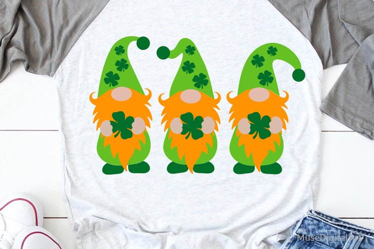 St Patricks Gnomes Svg, Funny Svg, St Patricks Kids Shirt example image 1