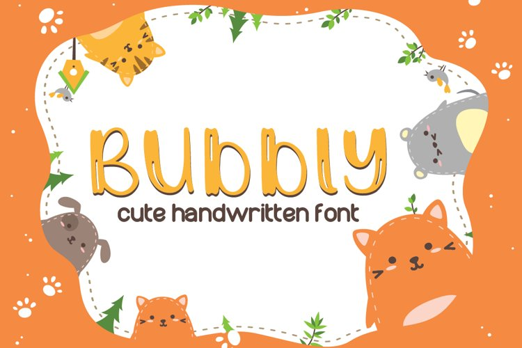 Bubbly Cute Font | LoveSVG example image 1