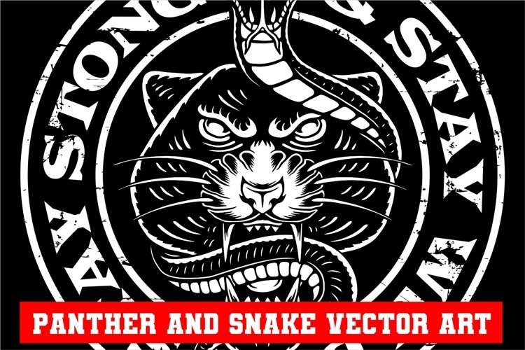 Panther and Snake Vector