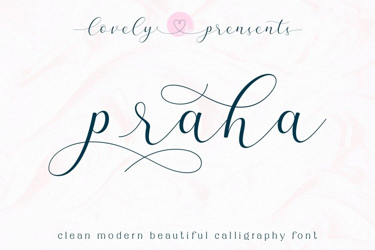Praha - lovely clean modern calligraphy font