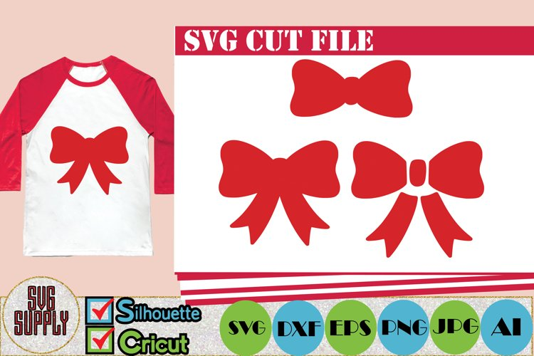 Bow SVG  Bow SVG Cut File example image 1