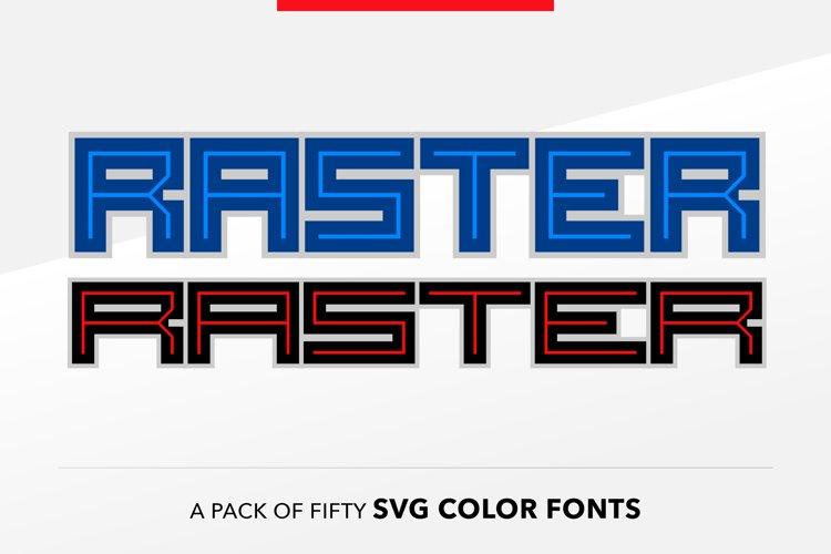 SB Raster Color - SVG Color Font Pack example image 1