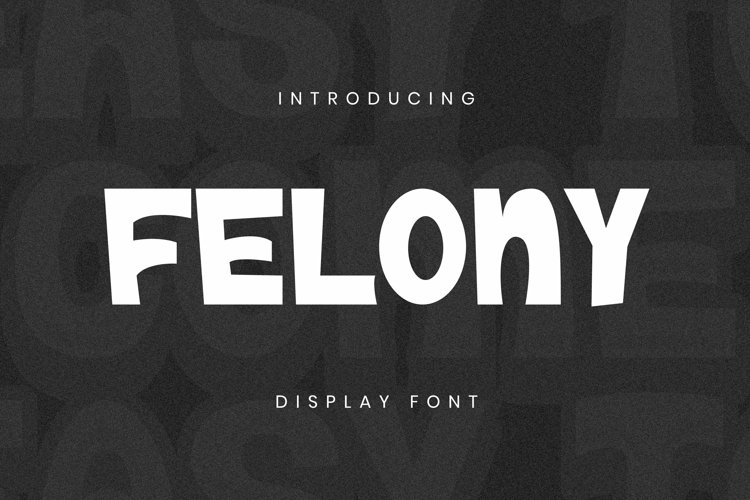Web Font Felony Font example image 1