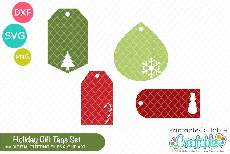 Christmas Gift Tags SVG Set example image 1