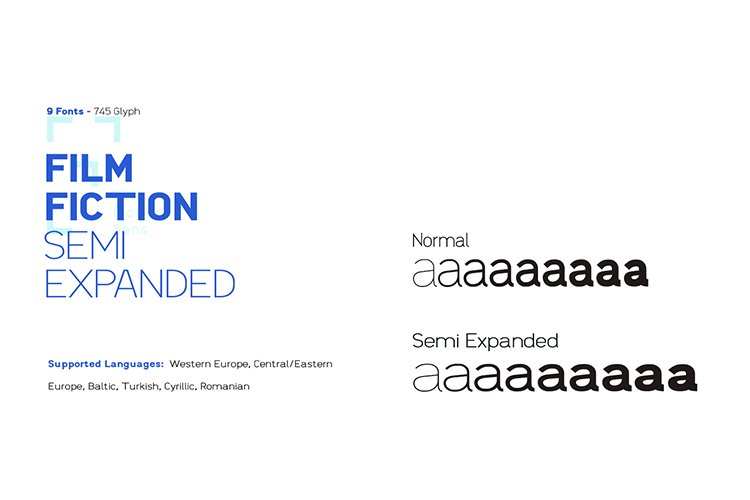 Film Fiction Semi Expanded Typeface example image 1