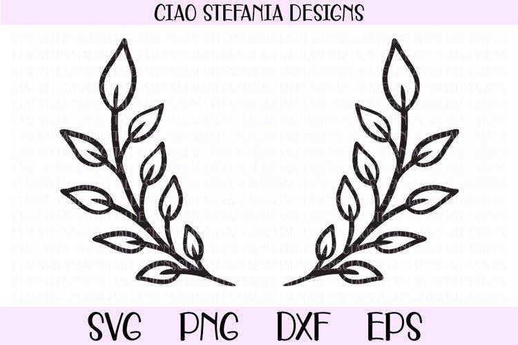 Laurel Wreath Wedding Frame SVG Cut File example image 1