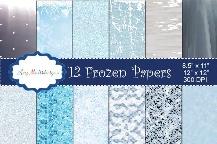 Frozen christmas digital pattern / frozen christmas paper / digital papers / gift wrapper / high quality digital set 12 x 12