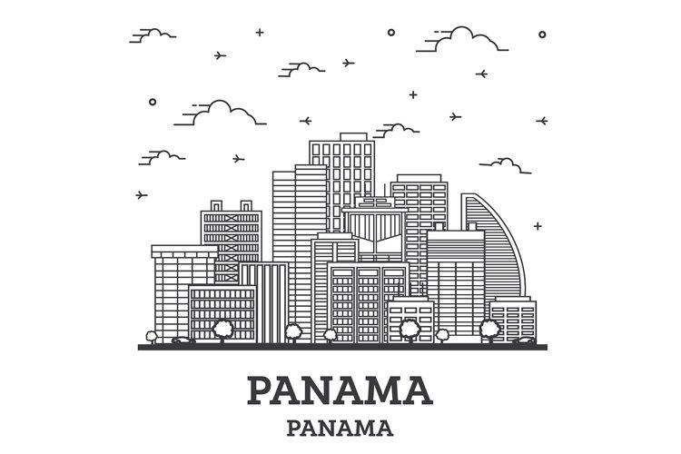 Outline Panama City Skyline example image 1