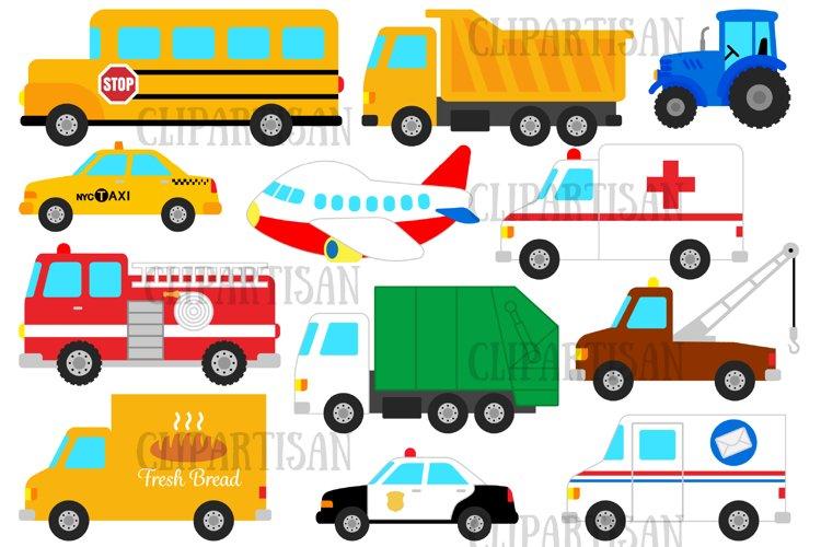 Transport Clipart, Vehicles Clip Art, Transportation