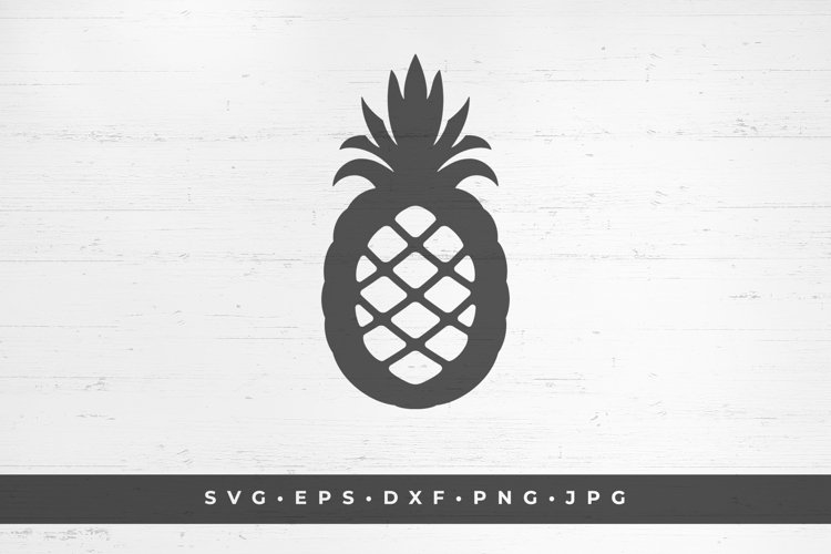 Pineapple fruit silhouette vector illustration example image 1