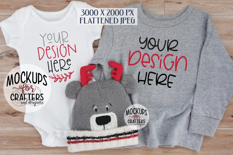 Baby Outfit & Long-sleeved Childs Shirt - MOCK-UP