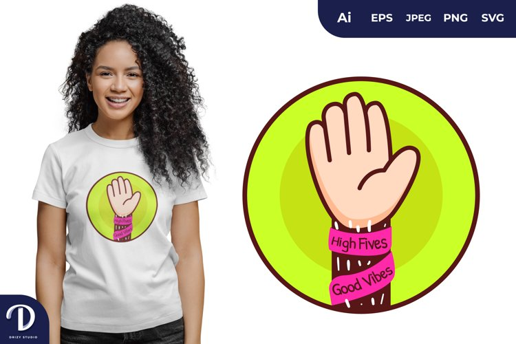 High Fives for T-Shirt Design example image 1