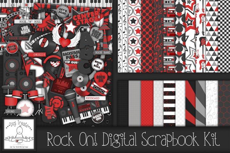 Rock On! Digital Scrapbook Kit.