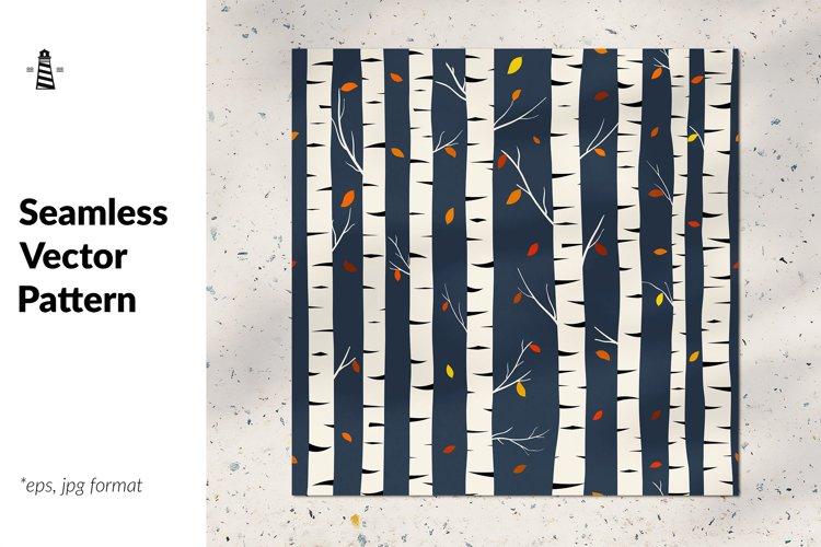 Birch seamless pattern example image 1