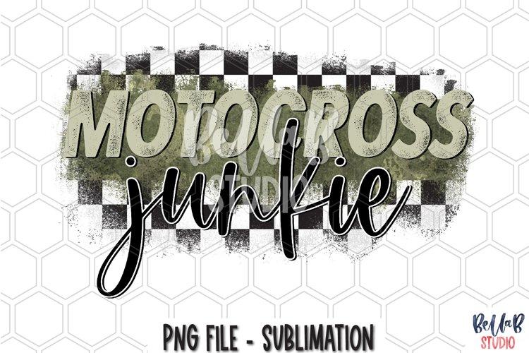 Motocross Junkie Sublimation Design example image 1