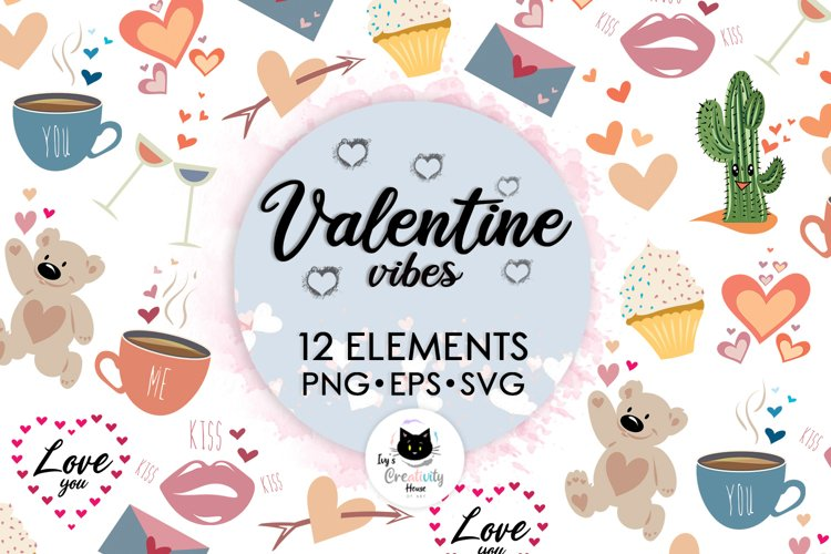 Valentines Day Clipart SVG Files | Valentine Hearts Bundle example image 1