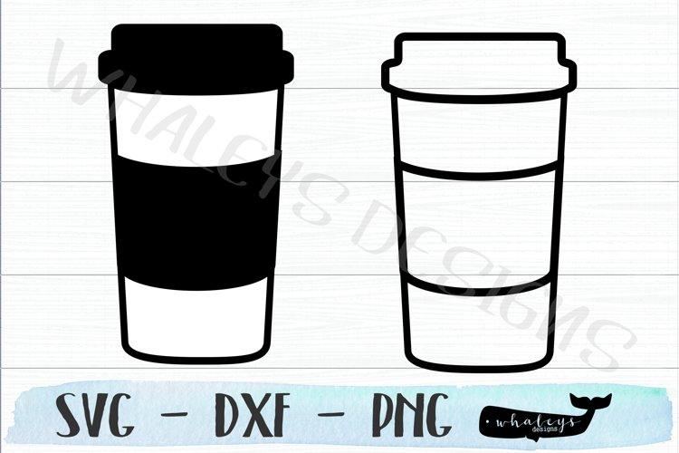 Coffee and Tea Cup - Mug SVG Design for Silhouette & Cricut example image 1