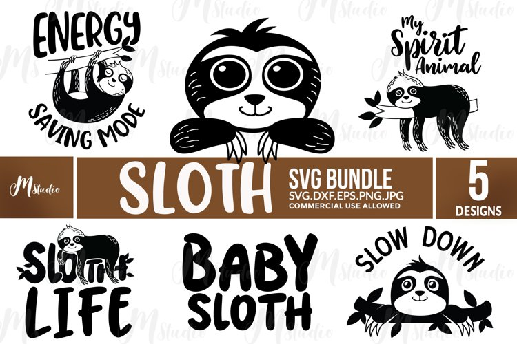 Sloth SVG Bundle example image 1