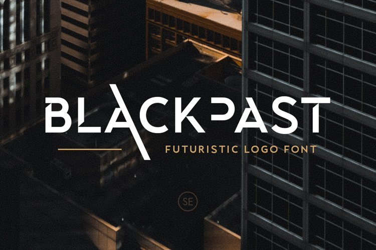 Blackpast - Futuristic Logo Font example image 1