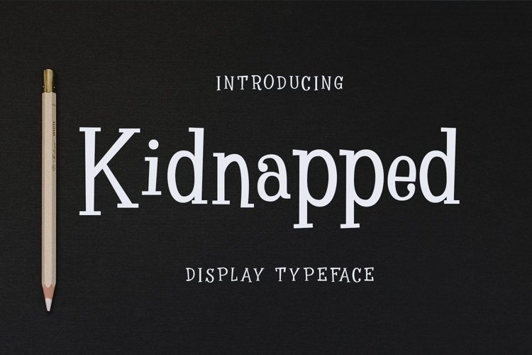 Web Font Kidnapped example image 1