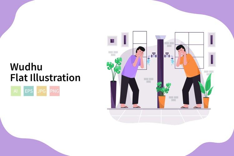 Wudhu Illustration In Flat Modern Style example image 1