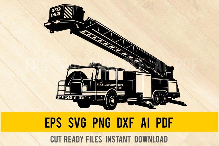 Crane Truck - Fire Truck SVG, Firetruck Svg, Fire Engine SVG