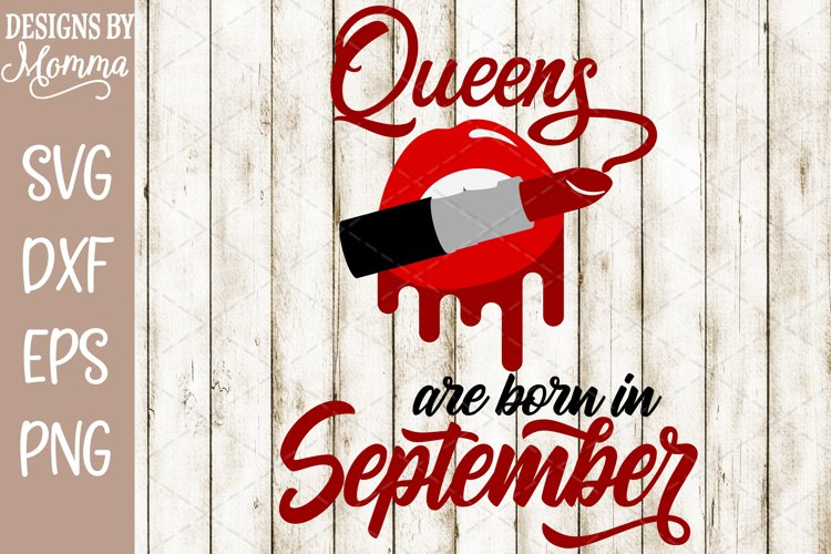 Queens are born in September Lipstick SVG example image 1