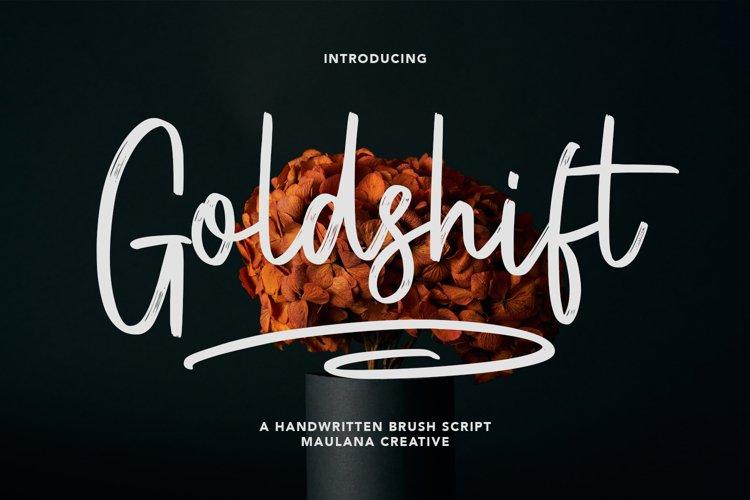 Goldshift Handwritten Brush Script example image 1