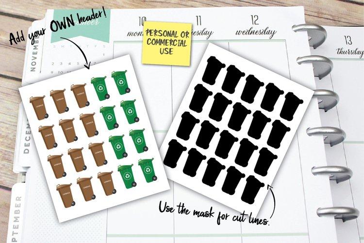 Garbage Planner Stickers