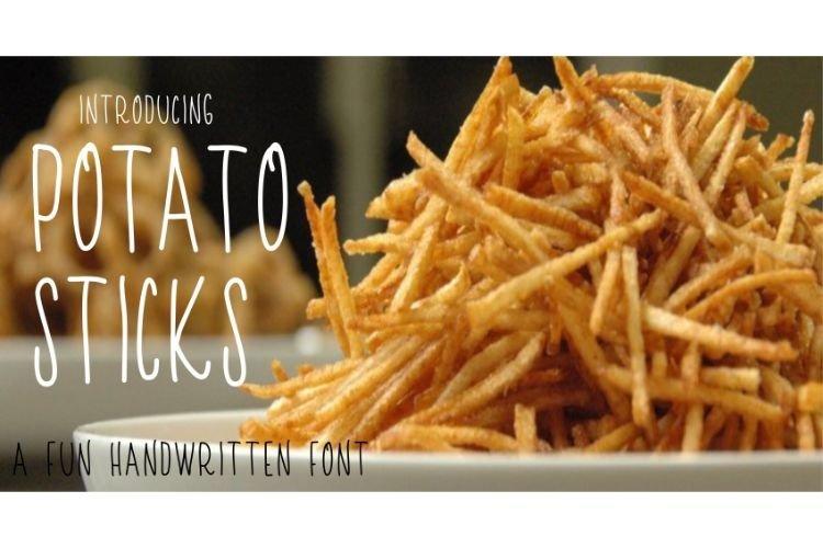 Potato Sticks Handwritten Skinny Font example image 1