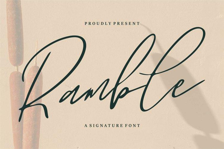 Web Font Ramble - A Signature Font example image 1