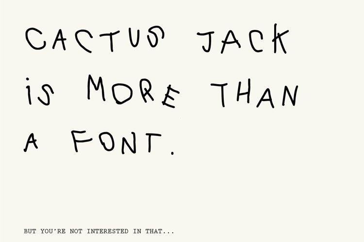 Cactus Jack Font example image 1
