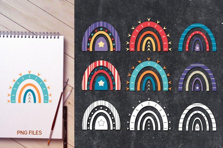Unity rainbow illustrations clip art