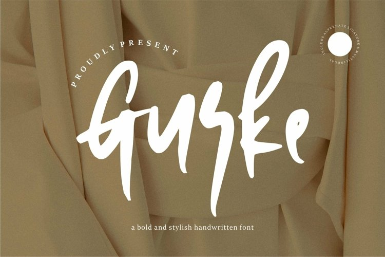 Web Font Gurke - Bold & Stylish Handwritten Font example image 1