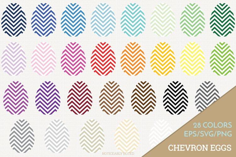 Chevron Easter Egg Vector / Clip Art example image 1